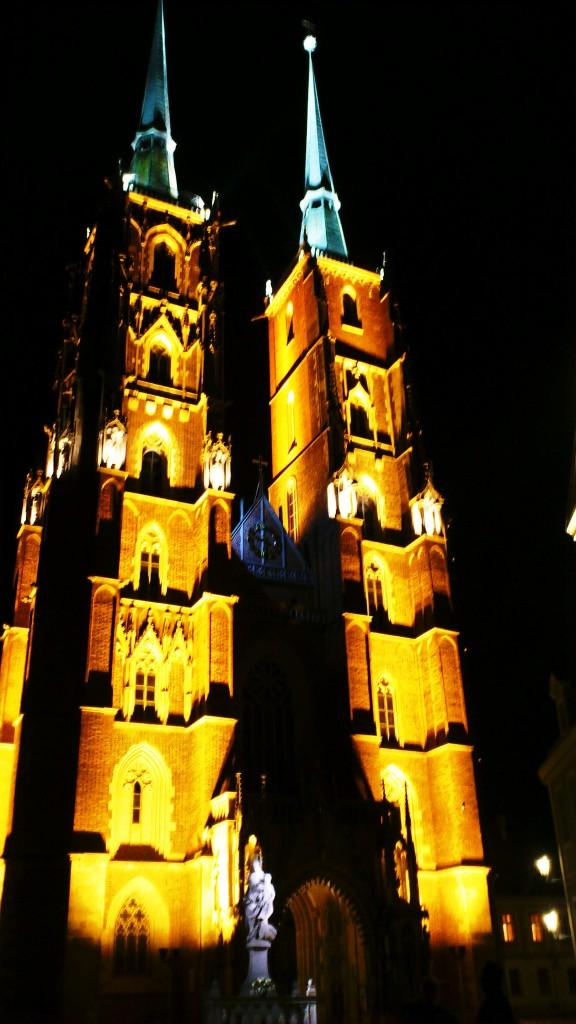 Polen Breslau Stadtführung nachts